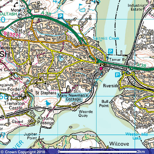 Saltash map